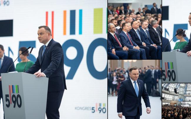 Fotograf konferencja prezydent